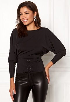 Chiara Forthi Chimelle top Black Bubbleroom.se