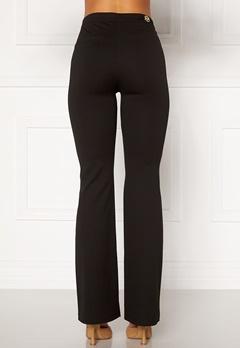 Chiara Forthi Christel slited pants Black Bubbleroom.se
