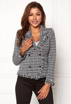 Chiara Forthi Cici bouclé jacket Black / Offwhite Bubbleroom.se