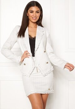 Chiara Forthi Cici bouclé jacket Winter white Bubbleroom.se