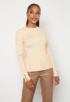 Chiara Forthi Claudina sweater Light beige Bubbleroom.se