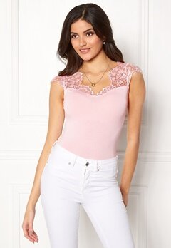 Chiara Forthi Clea Top s/s Light pink Bubbleroom.fi