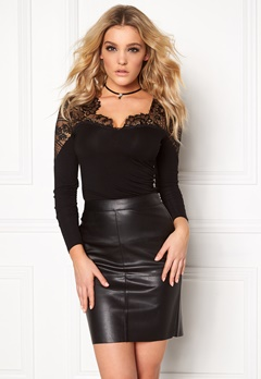 Chiara Forthi Clea Top Black Bubbleroom.fi