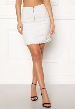 Chiara Forthi Cici bouclé skirt Winter white Bubbleroom.se