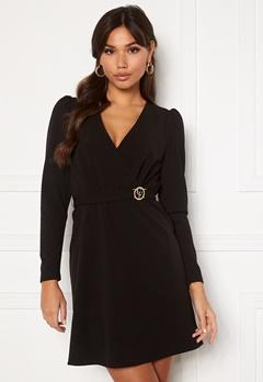 Chiara Forthi Cornelle buckle dress Black Bubbleroom.se