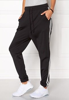Chiara Forthi Cozy Track Pants Black / White Bubbleroom.eu