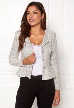 Chiara Forthi Crystalina peplum jacket Offwhite Bubbleroom.se