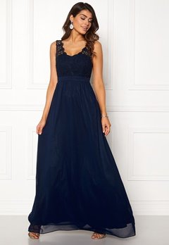 Chiara Forthi Daisy gown Dark blue Bubbleroom.se