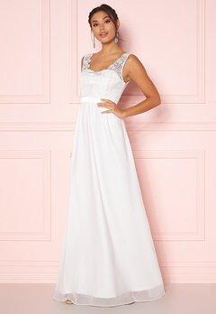 Chiara Forthi Daisy satin gown White Bubbleroom.se