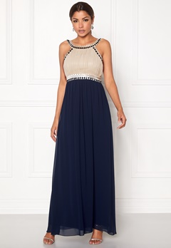 Chiara Forthi Dalilah Embellished Dress Beige / Blue Bubbleroom.se