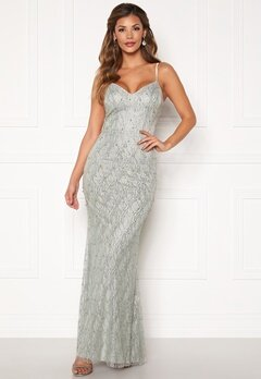 Chiara Forthi Diamond gown Silver grey Bubbleroom.se