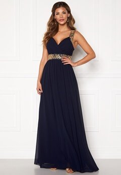 Chiara Forthi Diana Gown Dark blue / Gold Bubbleroom.se