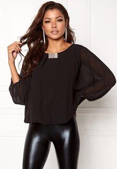 Chiara Forthi Dolman Sleeve Blouse Black Bubbleroom.no