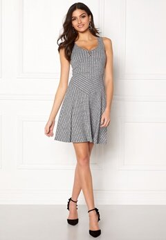 Chiara Forthi Donata Skater Dress Grey melange Bubbleroom.se