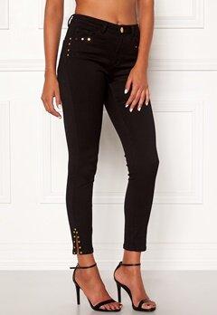 Chiara Forthi Donatella studded slit pants Black Bubbleroom.se