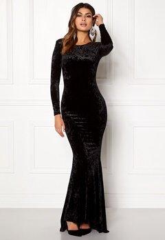 Chiara Forthi Editta Velvet Gown Black Bubbleroom.dk