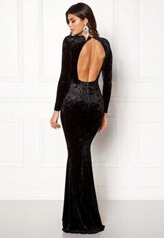 Chiara Forthi Editta Velvet Gown Black Bubbleroom.se