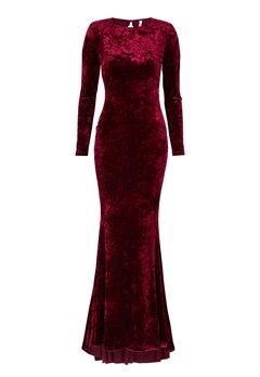 Chiara Forthi Editta Velvet Gown Dark red Bubbleroom.no