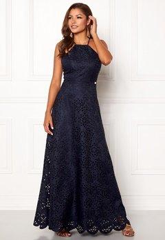 Chiara Forthi Elaine lazer cut gown Dark blue Bubbleroom.se