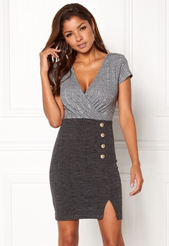 Chiara Forthi Elektra Ribbed Dress Dark grey / Grey melange Bubbleroom.se