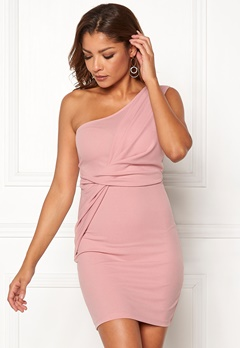 Chiara Forthi Elsa oneshoulder dress Pink Bubbleroom.se