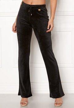 Chiara Forthi Elvira velour bootcut pants Black Bubbleroom.se