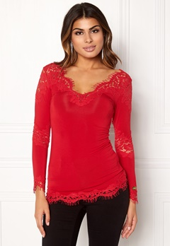 Chiara Forthi Evissu Lace Top Red Bubbleroom.fi