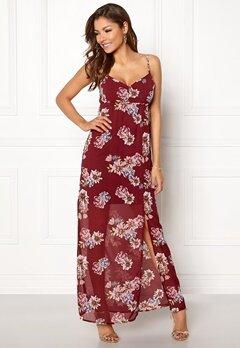 Chiara Forthi Fabienne Dress Wine-red / Floral Bubbleroom.se