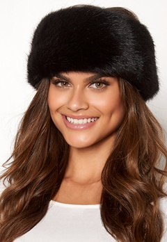 Chiara Forthi Faenza fur head band Black Bubbleroom.se