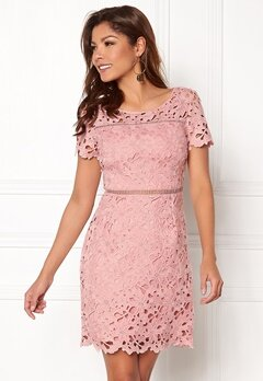 Chiara Forthi Felizia Lace Dress Light pink Bubbleroom.fi