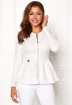 Chiara Forthi Fiona peplum jacket White Bubbleroom.se