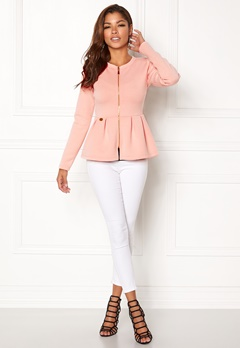 Chiara Forthi Fiorenza Peplum Jacket Light pink Bubbleroom.se