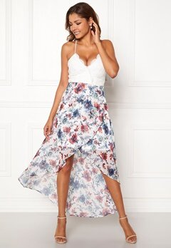 Chiara Forthi Floreale highlow dress Offwhite / Floral Bubbleroom.se