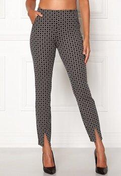 Chiara Forthi Franka jersey sleek pants Beige / Black / Offwhite Bubbleroom.se
