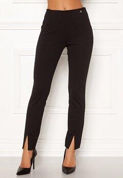 Chiara Forthi Franka jersey sleek pants Black Bubbleroom.se