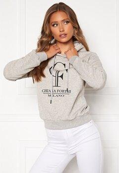Chiara Forthi Gabriella logo hoody Grey melange bubbleroom.se