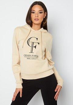 Chiara Forthi Gabriella logo hoody Light beige bubbleroom.se