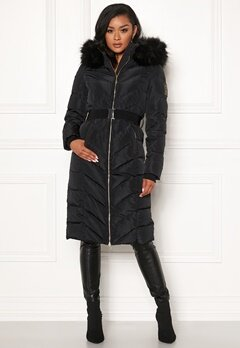 Chiara Forthi Garibaldi long down jacket Black Bubbleroom.se
