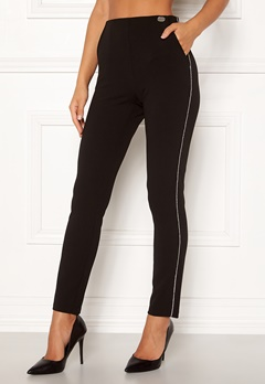 Chiara Forthi Gloria sparkle stripe pants Black Bubbleroom.se