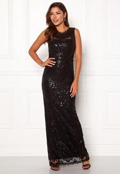 Chiara Forthi Harper gown Black Bubbleroom.se