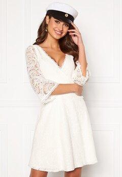 Chiara Forthi Heaven wrap lace dress White Bubbleroom.se