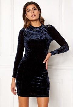 Chiara Forthi Henny Velvet Dress Midnight blue / Gold Bubbleroom.no