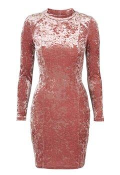 Chiara Forthi Henny Velvet Dress Old rose / Gold Bubbleroom.se