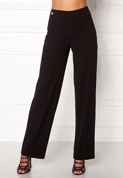 Chiara Forthi Highrise Stretch Trousers Black Bubbleroom.dk