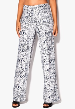 Chiara Forthi Highrise Wide Leg  Trousers Antique white / Blue Bubbleroom.eu