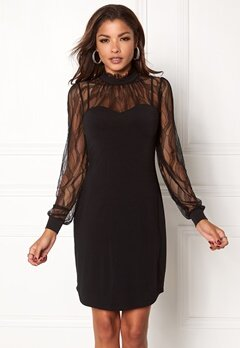 Chiara Forthi Hillie Highneck Dress Black Bubbleroom.fi
