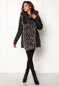 Chiara Forthi Igloo Fur Puffa Black Bubbleroom.eu