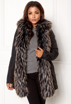 Chiara Forthi Igloo Fur Puffa Black Bubbleroom.fi