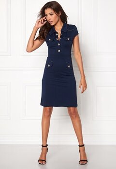 Chiara Forthi Intrend Aviator Dress Dark blue / Gold Bubbleroom.eu