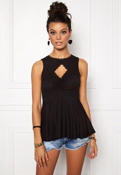 Chiara Forthi Intrend Harper Top Black Bubbleroom.se